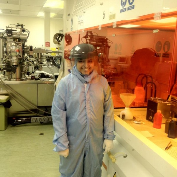 Darshna Inside lab cleanroom